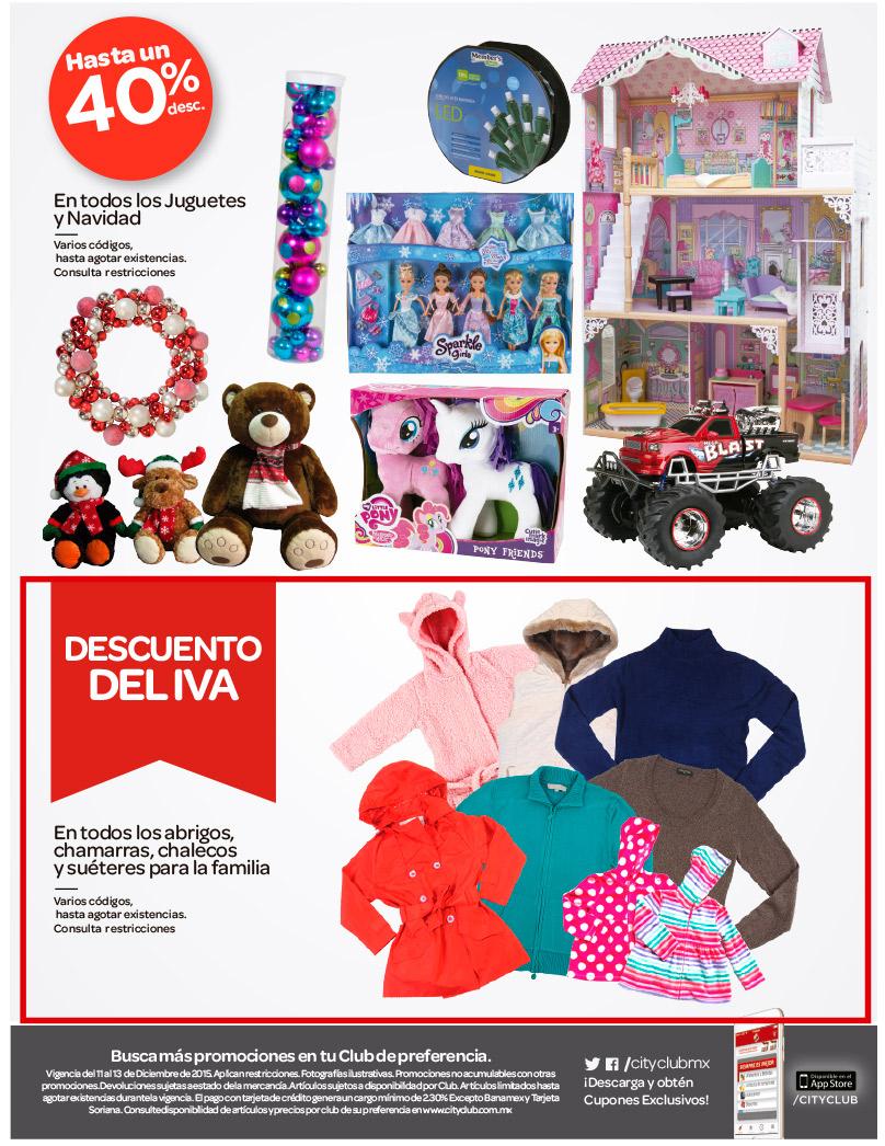 City club : hasta un 40% en jugueteria y navidad