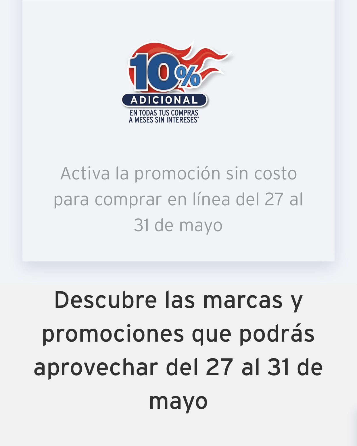Banamex: Amplia plazo del 10% y 12% (Con ciertas tarjetas)