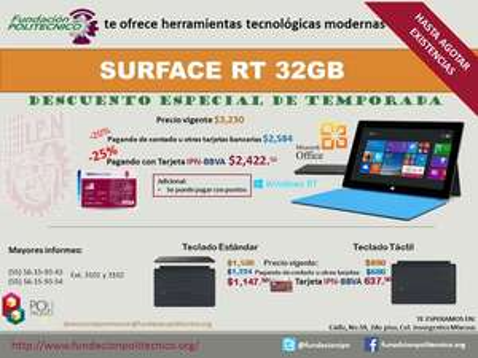 Fundación Politécnico DF: Surface RT 32GB