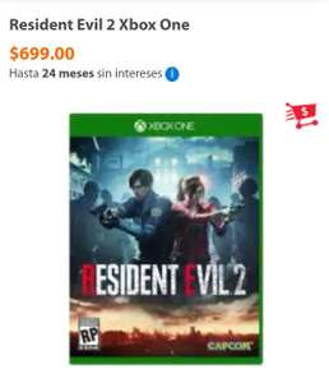 Walmart: Resident Evil 2 Xbox One