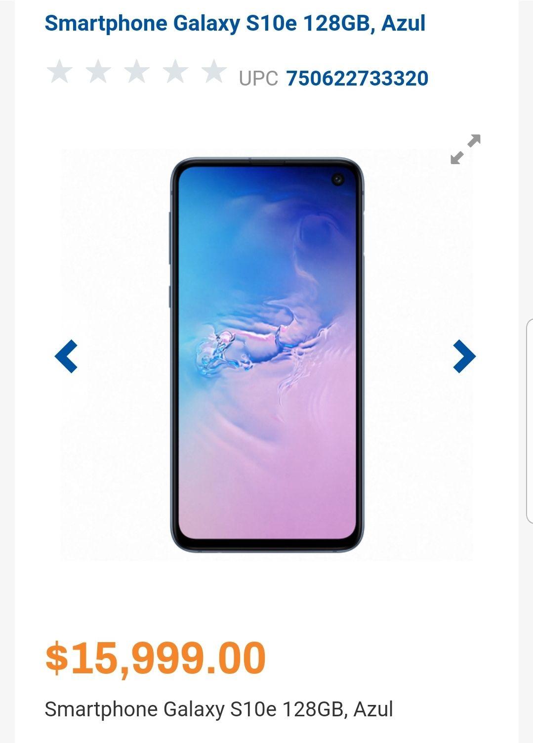 Chedraui: Samsung Galaxy S10e + $5,600 en cupones + $2,400 en estado de cuenta Bancomer (Pagando con Bancomer)