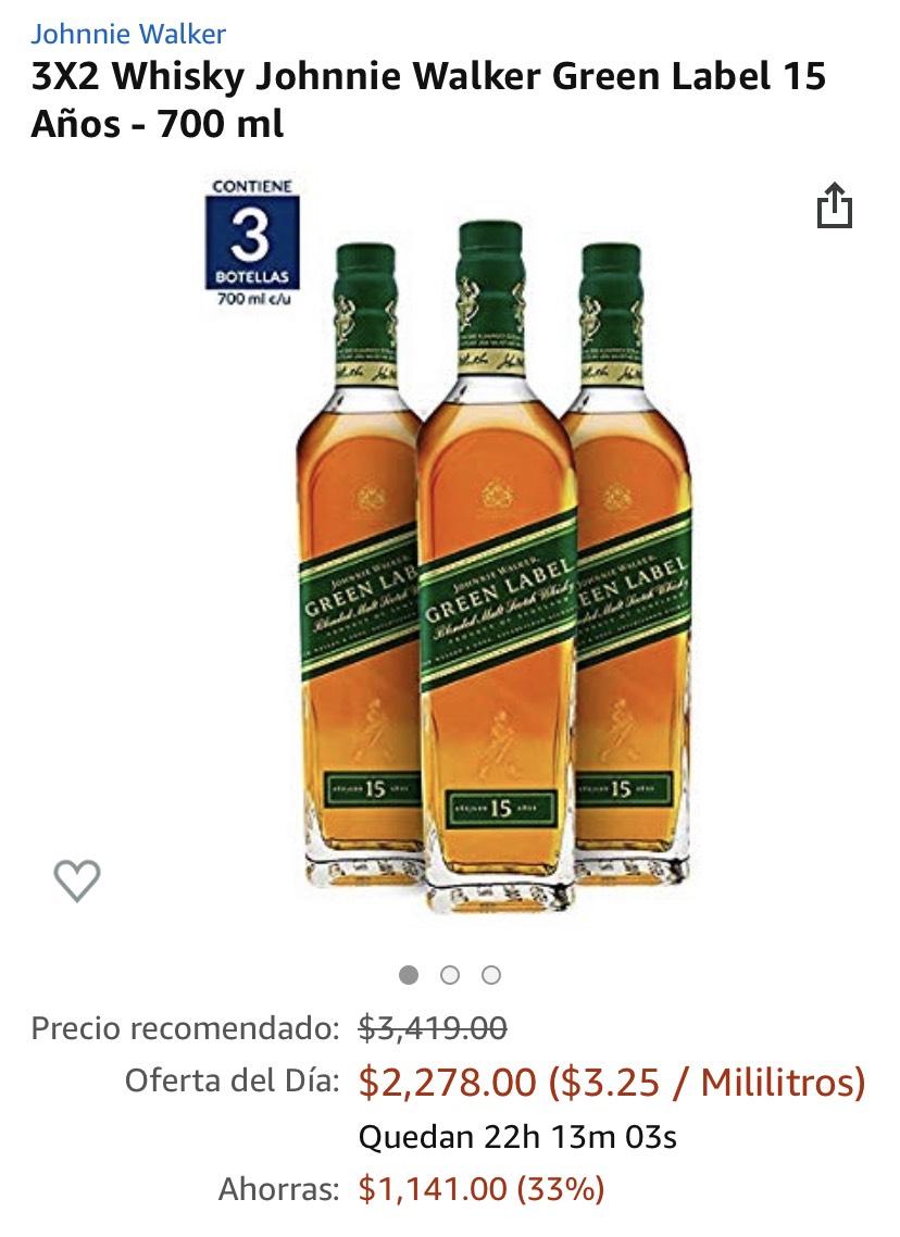 Amazon: 3x2 vinos y licores Green Label Amazon