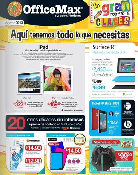Folleto OfficeMax agosto 2013