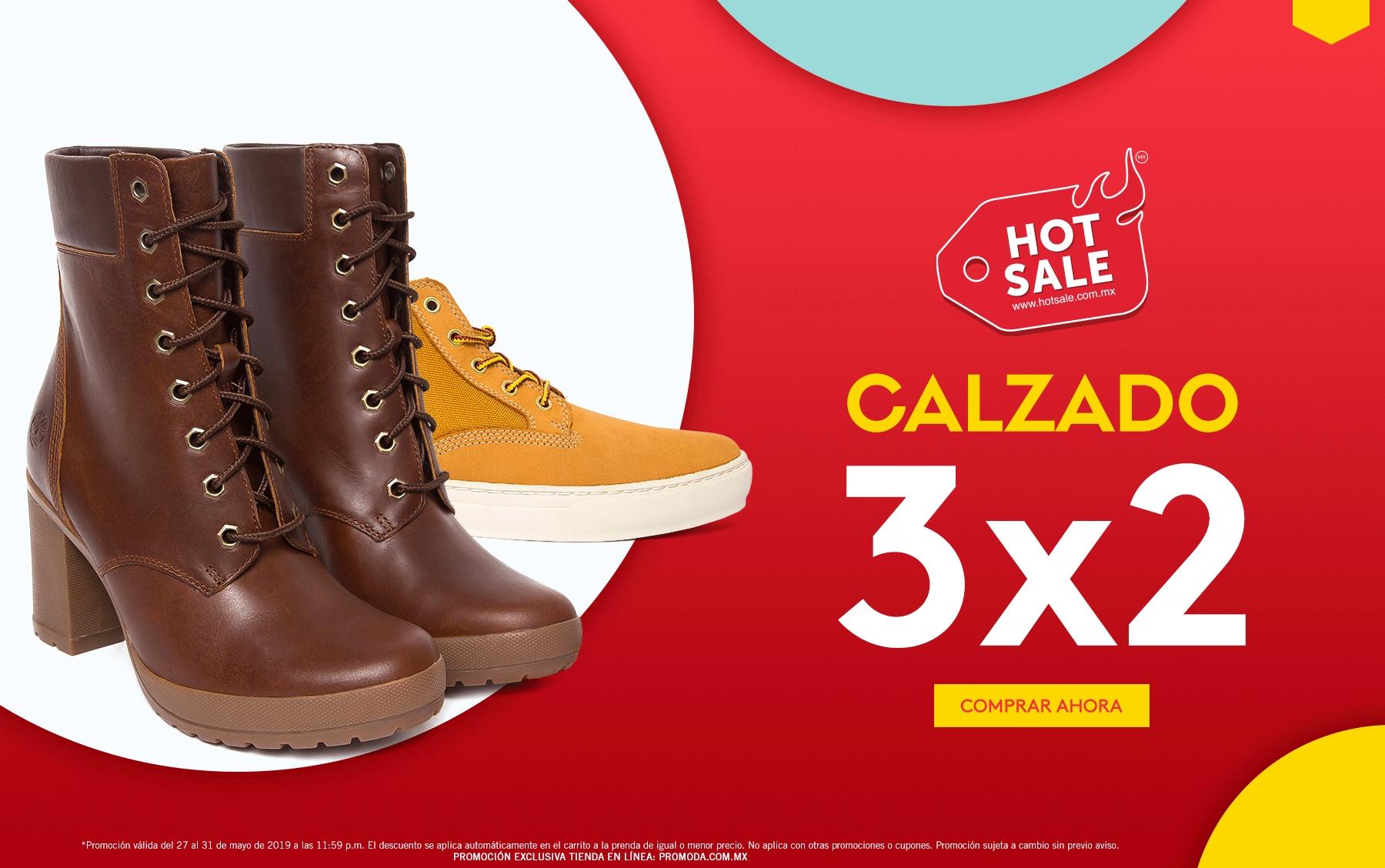 Promoda Outlet: Hot Sale 2019: 3 x 2 en calzado... Descuentos escalonados del 20% al 45%