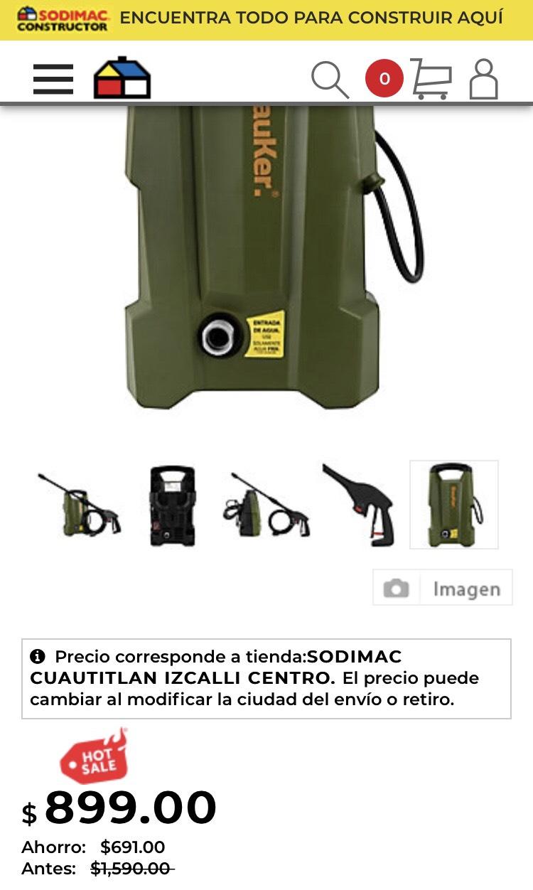 Sodimac: Hidrolavadora $899