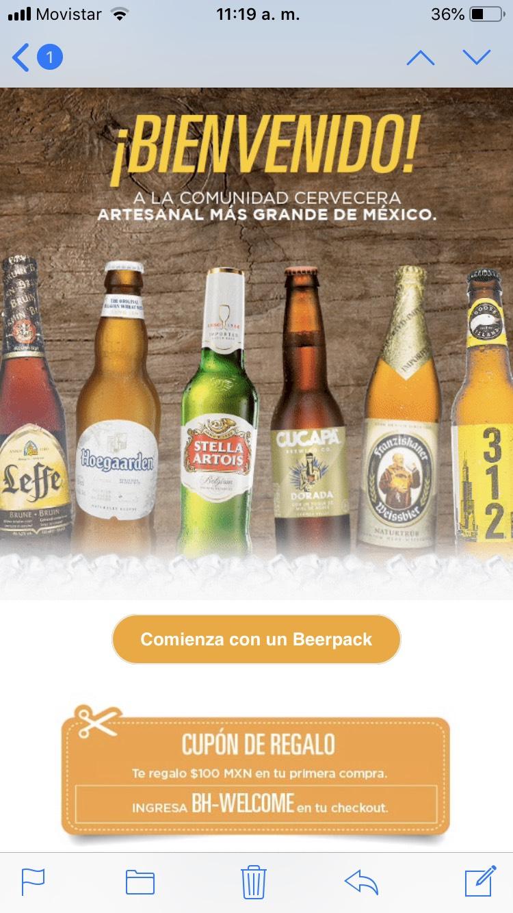 Beerhouse: $100 de descuento en tu primera compra