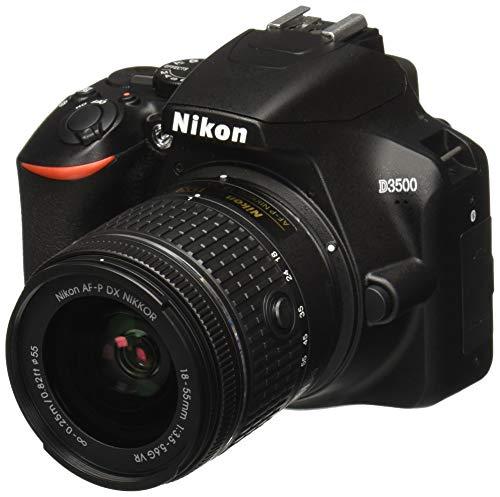 Amazon: Nikon D3500 Lente AF-P DX, Video Full HD 1080p, 18-55 mm