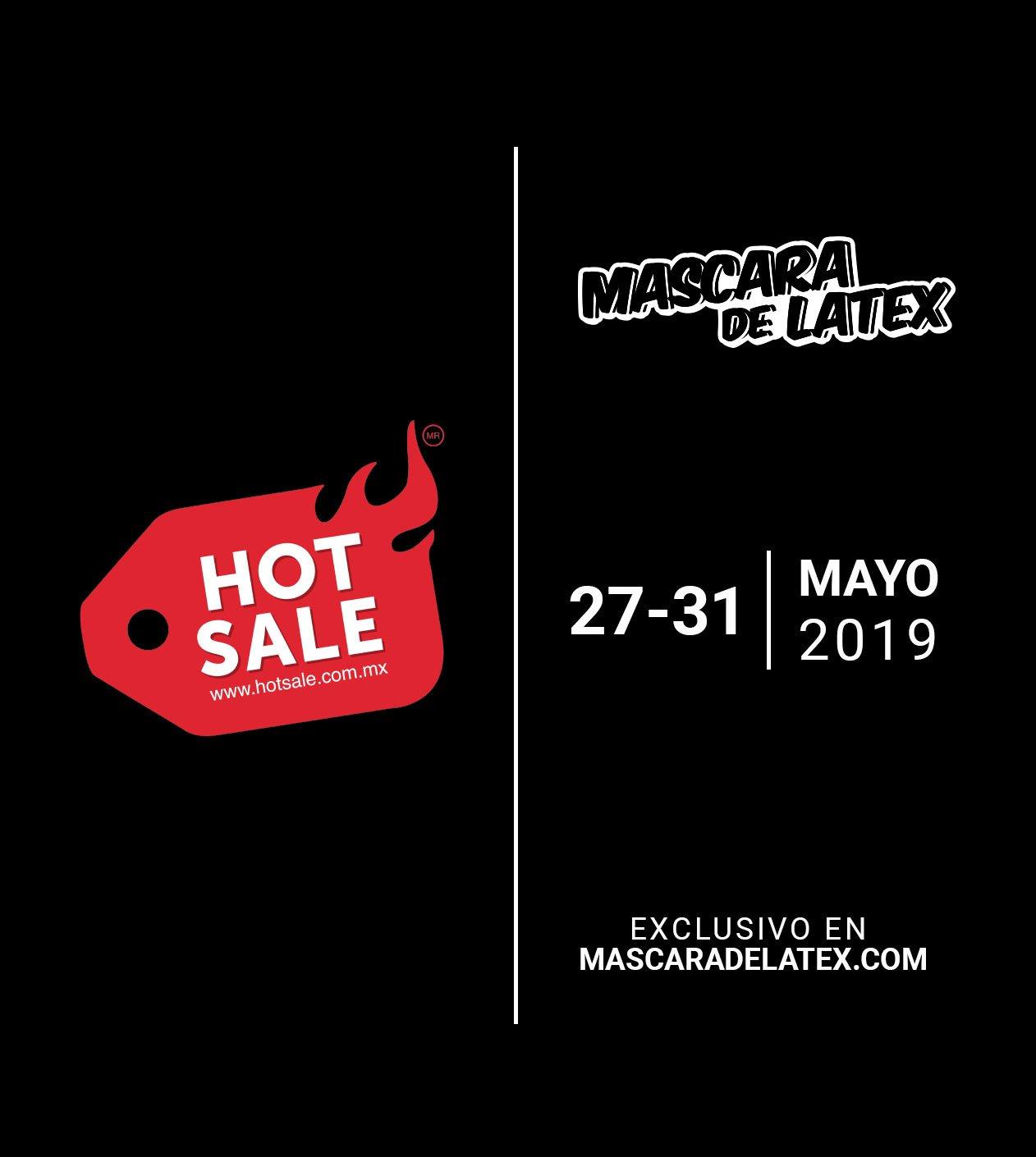 Hot Sale en Máscara de Látex: 30% de descuento y 6 MSI