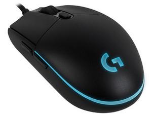 PCEL: Mouse Gamer Logitech Pro, 200 hasta 12,000 dpi, 6 botones e iluminación RGB programables.