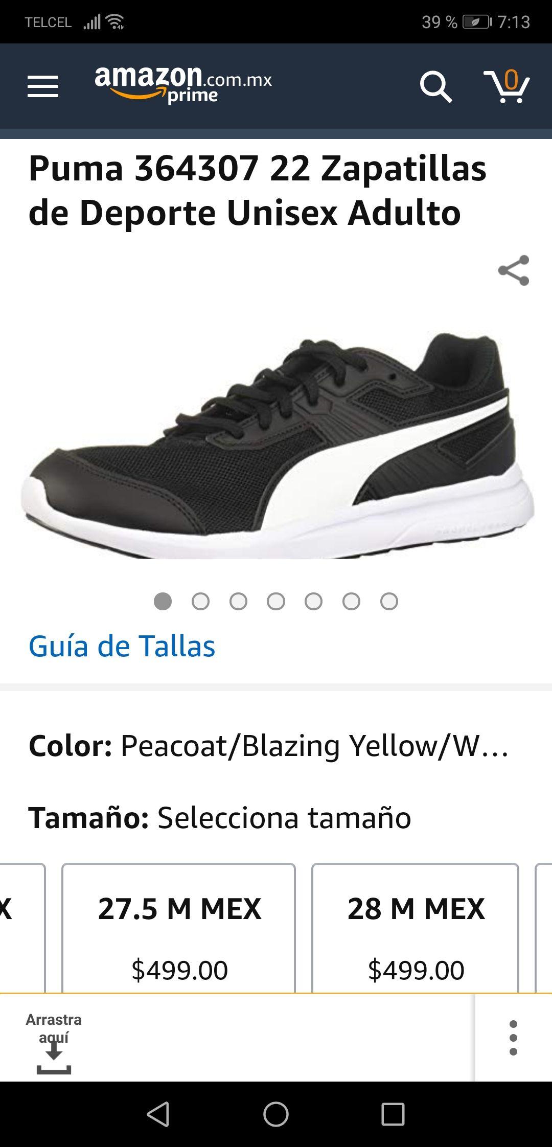 Amazon MX: Tenis Puma 364307 Deportivo Unisex Negro