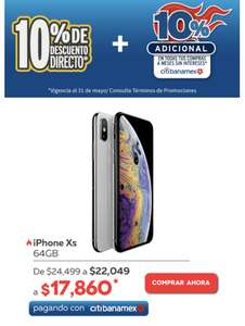 Elektra: iPhone XS 64GB (pagando con Citibanamex)