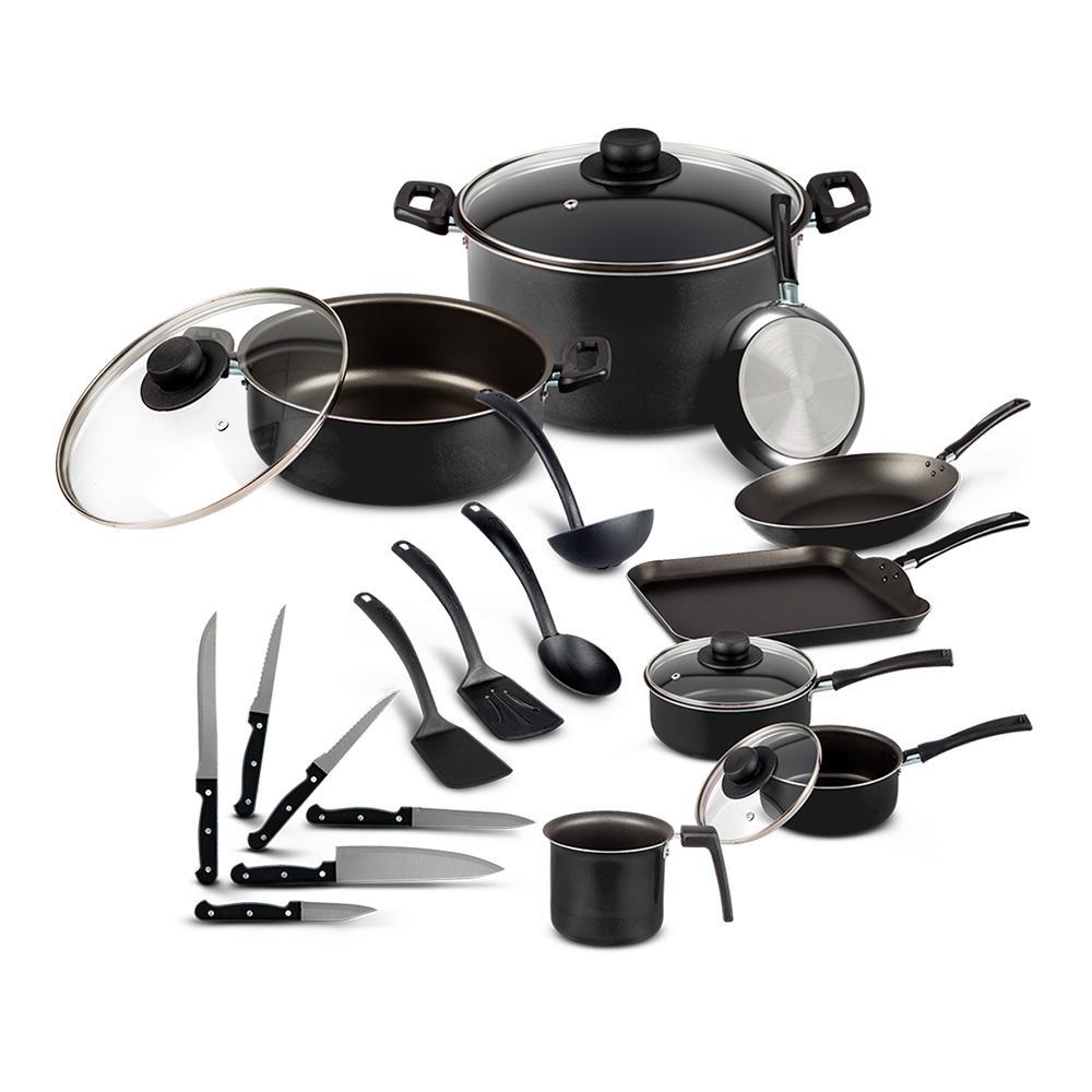 Walmart en línea: Batería de Cocina Ekco Classic 22 Piezas Negra