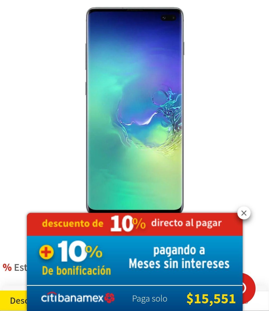 Elektra: Samsung Galaxy S10+, 3 colores disponibles (Pagando con Citibanamex)
