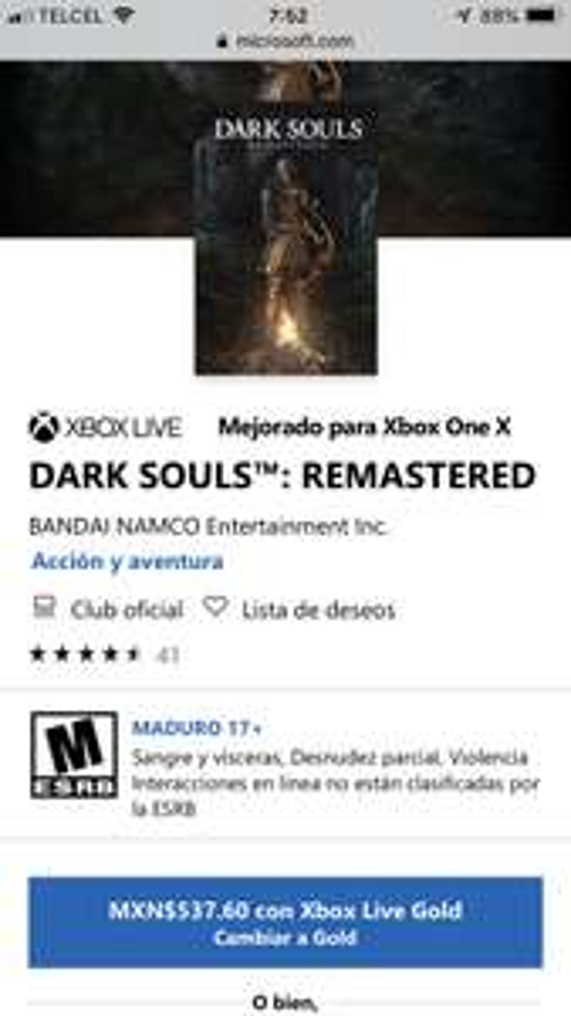 Microsoft Store: Dark Souls REMASTERED