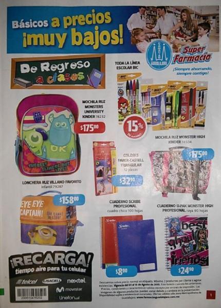 Folleto Farmacias Guadalajara del 1 al 15 de agosto 2013