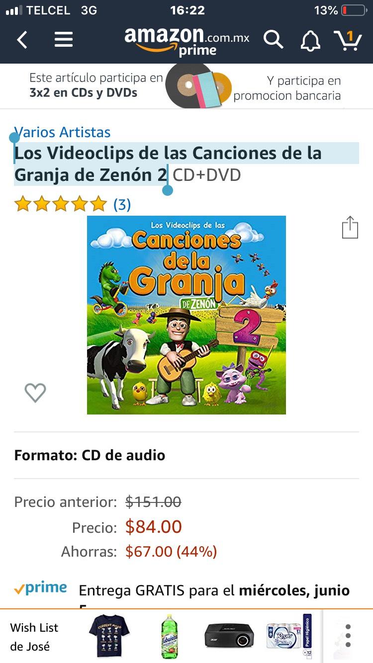 Amazon: Los Videoclips de las Canciones de la Granja de Zenón 2