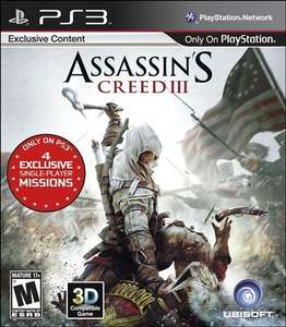 Amazon: Juego Assasin's Creed III para ps3 $114