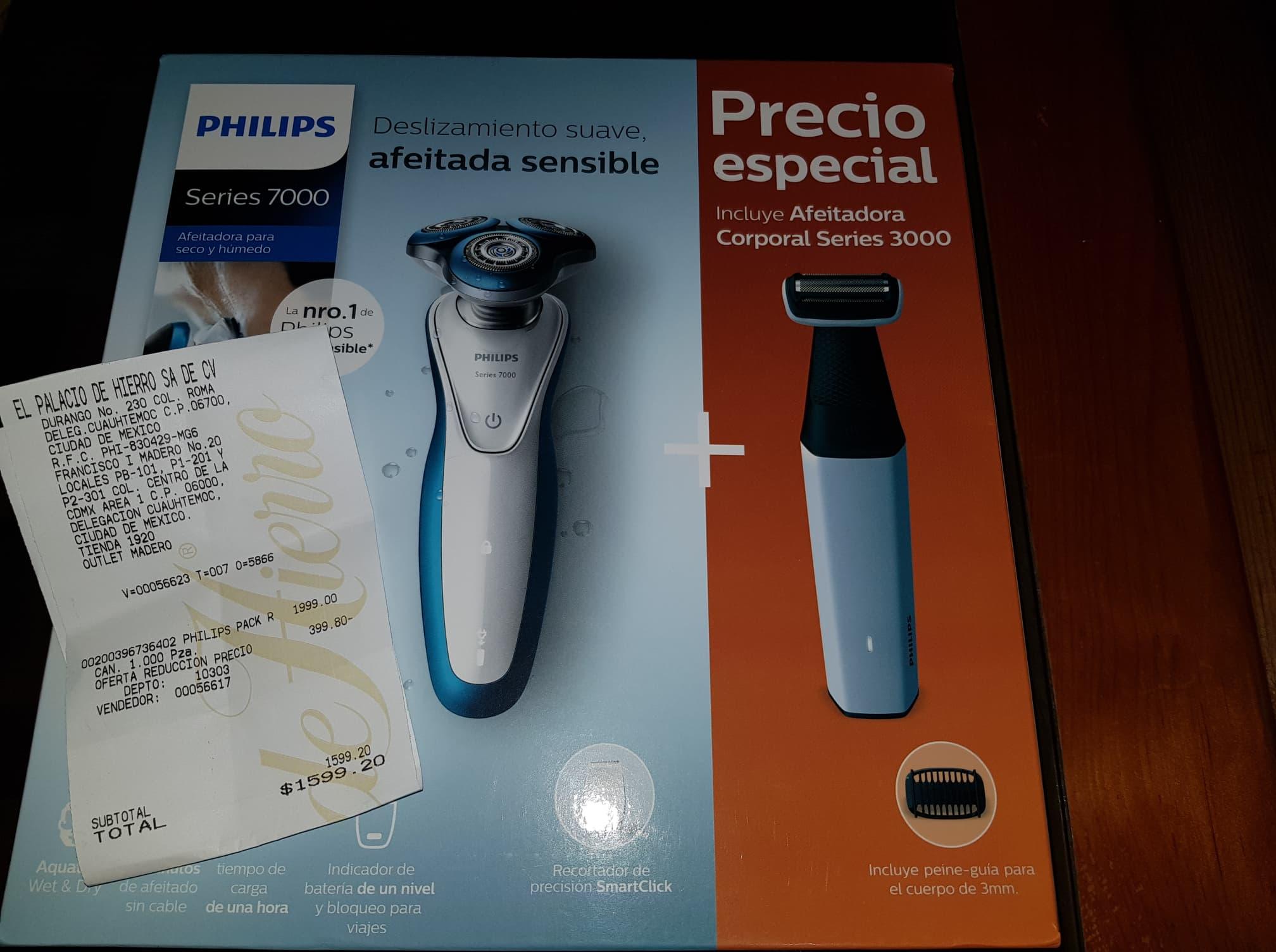 Palacio de Hierro: Philips Pack Rasuradora Series 7000 y 3000