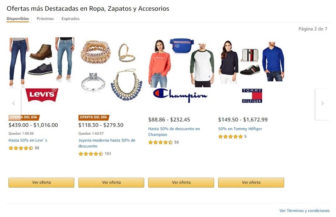 Amazon: Descuento de 35% + 10% en ropa, calzado y accesorios