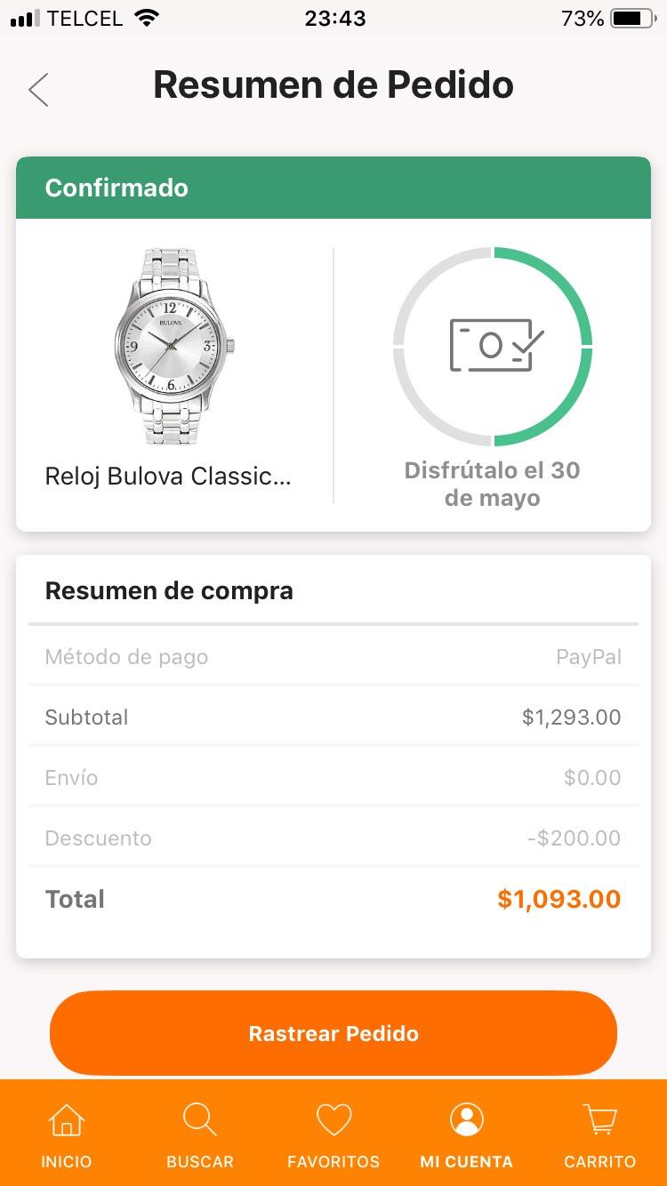Linio: Reloj BULOVA CLASSIC (pagando con Paypal)