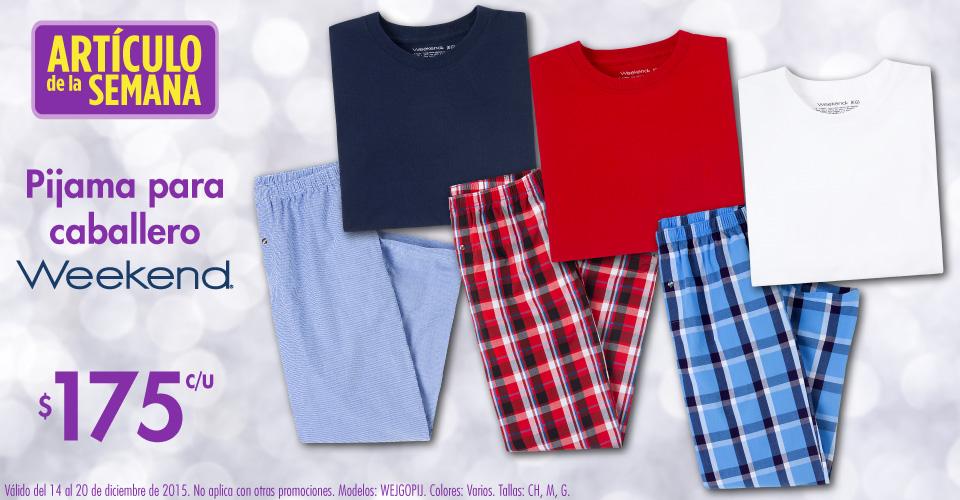 Suburbia Artículo de la semana: Pijama para hombre Weekend a $175 del 14 al 20 de Diciembre