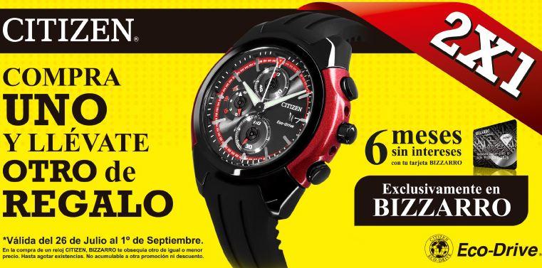 Joyerías Bizarro: 2x1 en relojes Citizen