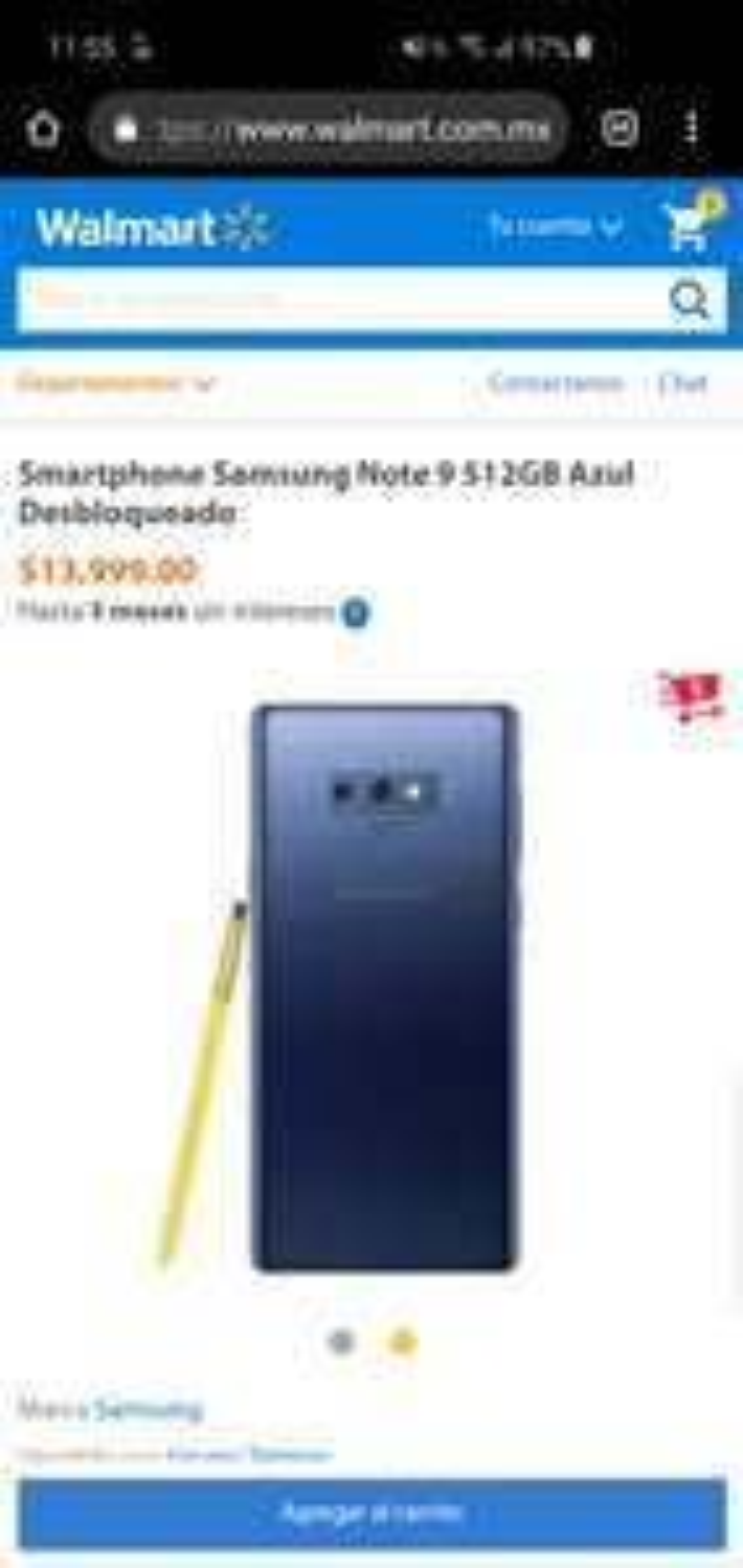 Walmart: Samsung Galaxy Note 9 512 Gb desde $11,666