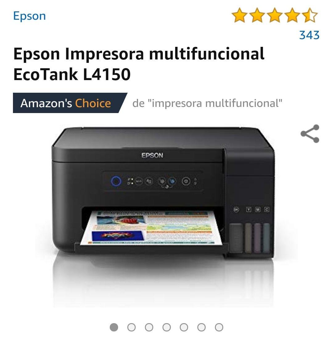 Amazon: Multifuncional epson Ecotank L4150 (pagando con tarjetas participantes)