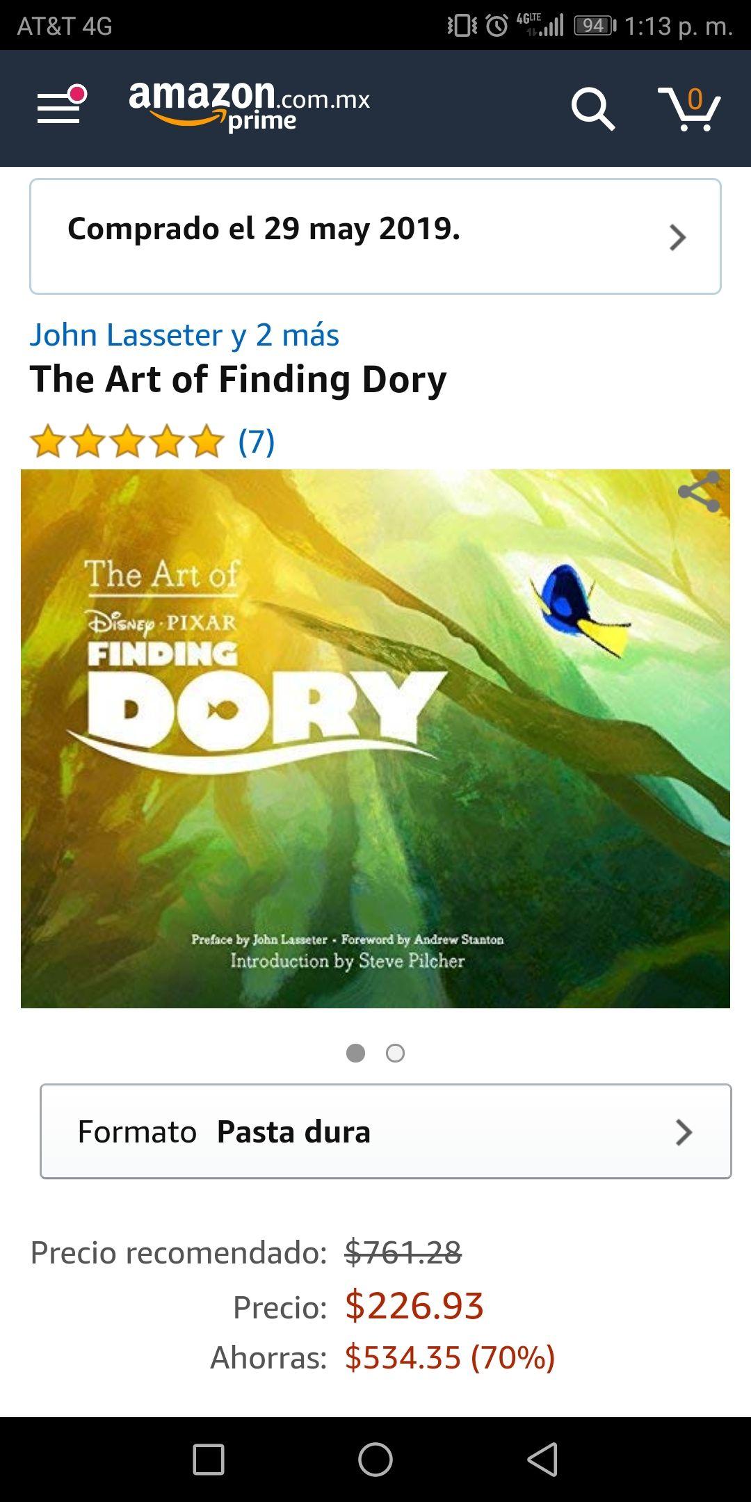 Amazon - Libro The Art of Finding Dory
