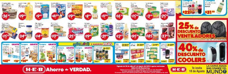 HEB: 40% de descuento en coolers, plátano $2.95 y más