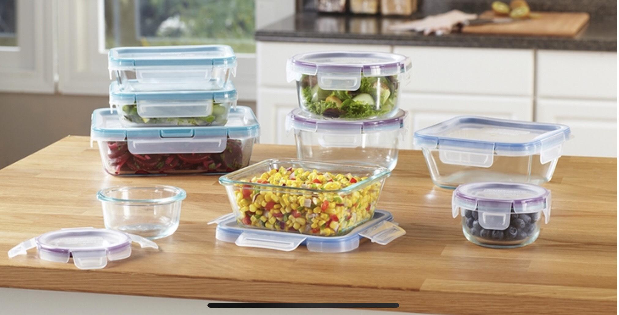 Costco: Juego de recipientes de vidrio con tapa