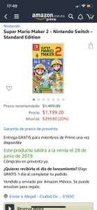 Amazon: Mario Maker 2 para Nintendo Switch