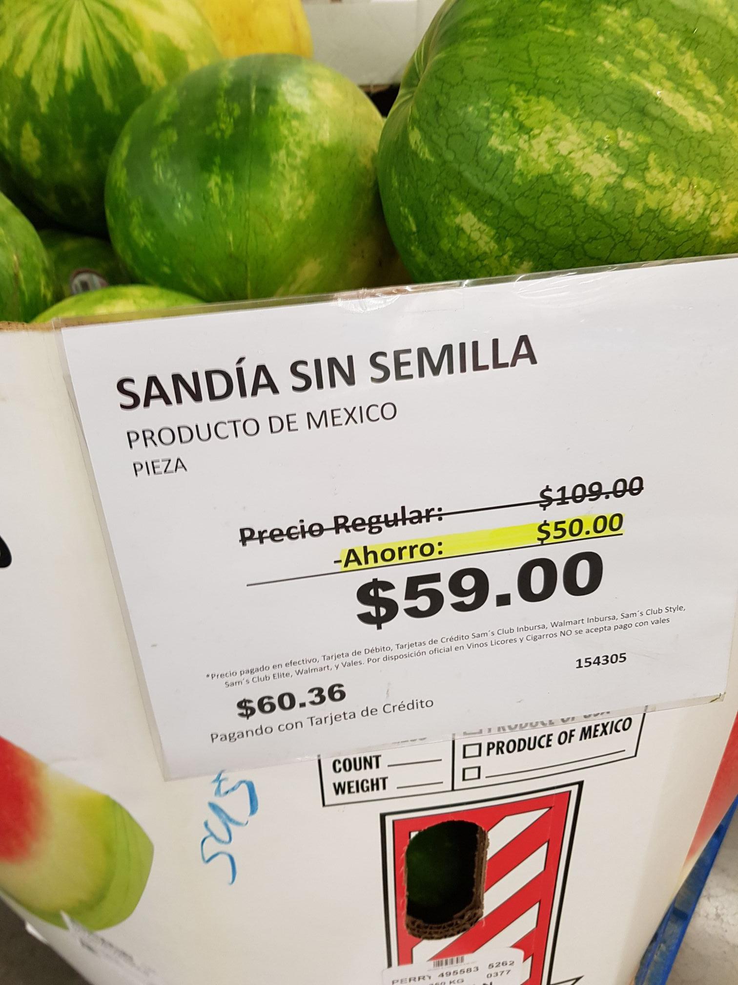 Sam's Club: Pieza de sandía a solo $59