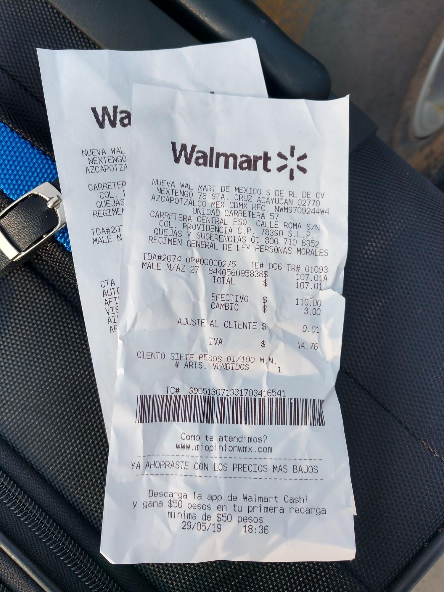Walmart San Luis Potosi, maleta en su última liquidación