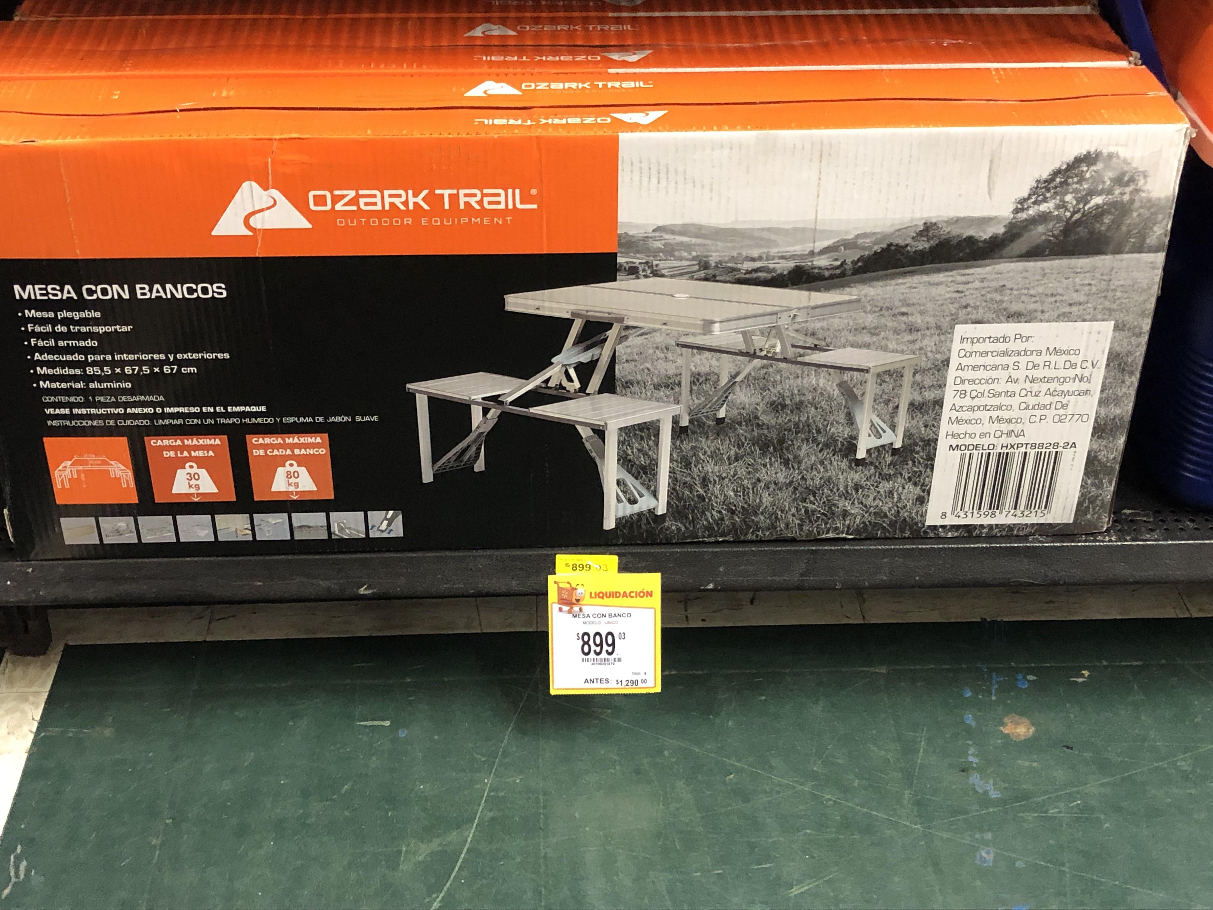 Walmart mesa con banco ozark trail