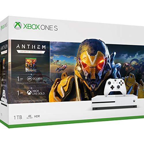 Amazon: Consola Xbox One S, 1TB + Anthem - Bundle Edition (pagando con Amazon Recargable)