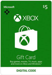 eBay: Gift card Xbox live 5 USD a $46