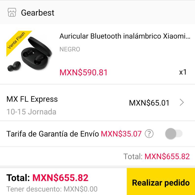 Gearbest: Xiaomi Redmi AirDots - Negro