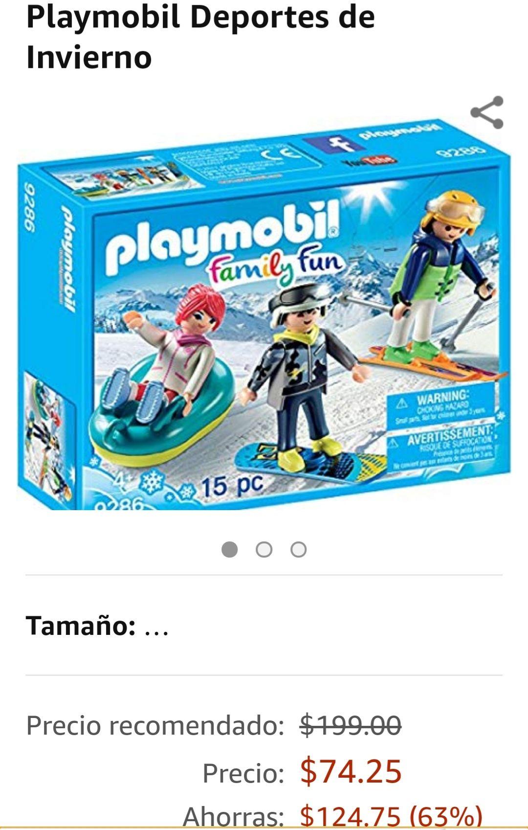 Amazon: Playmobil deportes de invierno.