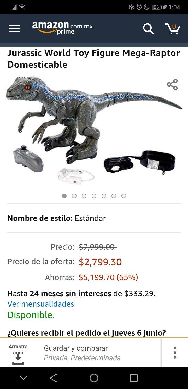 Amazon: Mega-Raptor Domesticable con 75% de descuento
