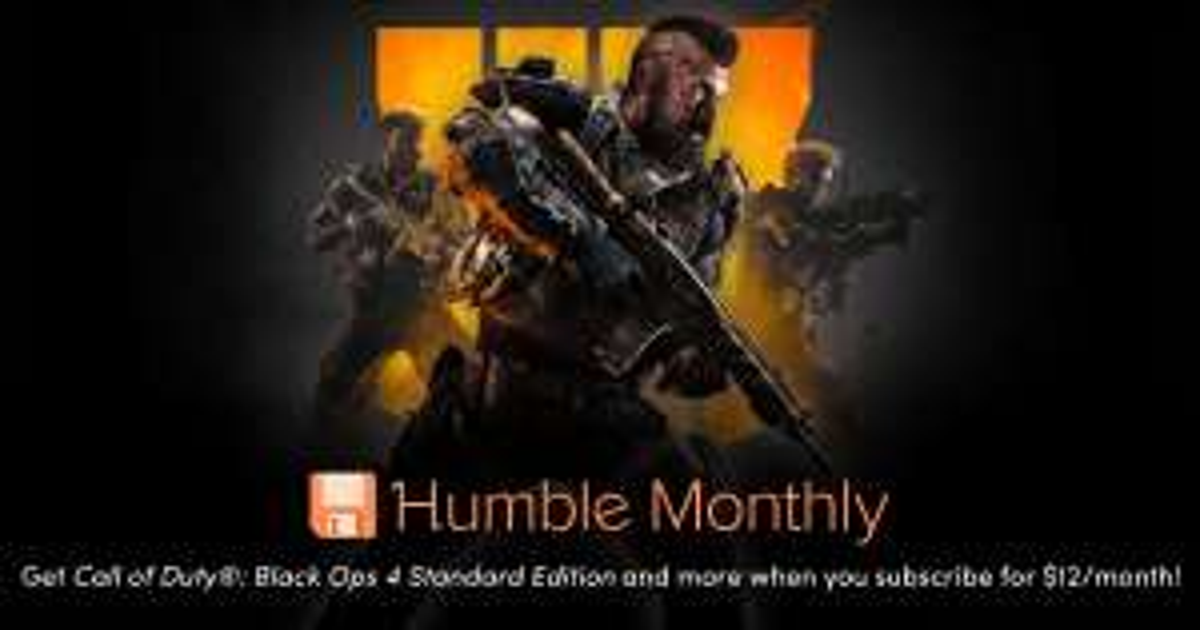 Humble  Bundle: Monthly COD Black OPS 4 Standard (Incluye zombies)