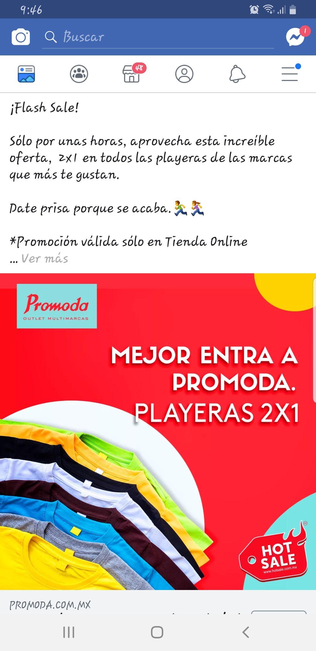 Promoda: playeras 2x1