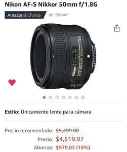 Amazon: Nikon AF-S Nikkor 50mm f/1.8G