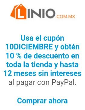 Linio: 10% de descuento y 12 meses sin intereses con PayPal (diciembre 16)