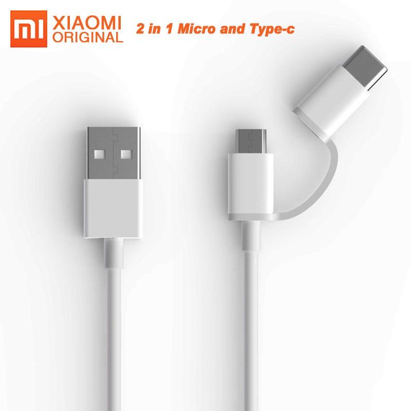 AliExpress: Xiaomi Original cable 2 en 1 :  micro Usb para Xiaomi Note7 mi 8 9 y Samsung y tipo C para Huawei.