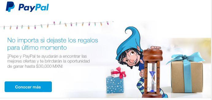 Paypal: Resumen de Ofertas navideñas, incluye meses sin intereses y cashbacks en tiendas de prestigio.