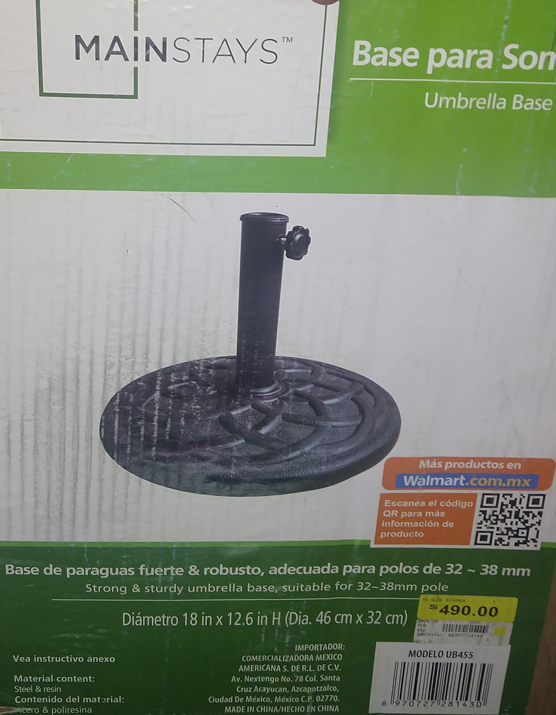 Walmart : Base para sombrilla 99.03