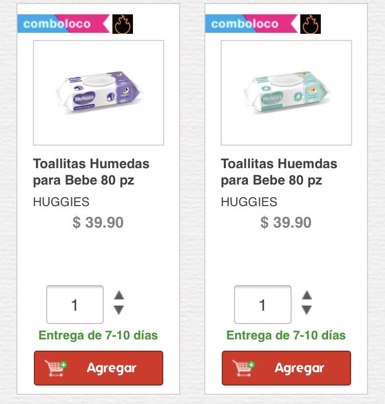 HEB: Toallitas Húmedas Huggies $18.60