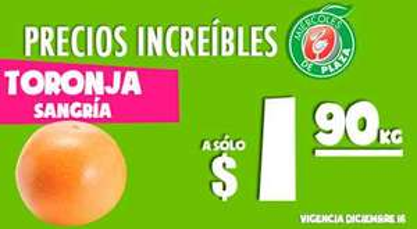 Miércoles de Plaza en La Comer diciembre 15: toronja $1.90 y más