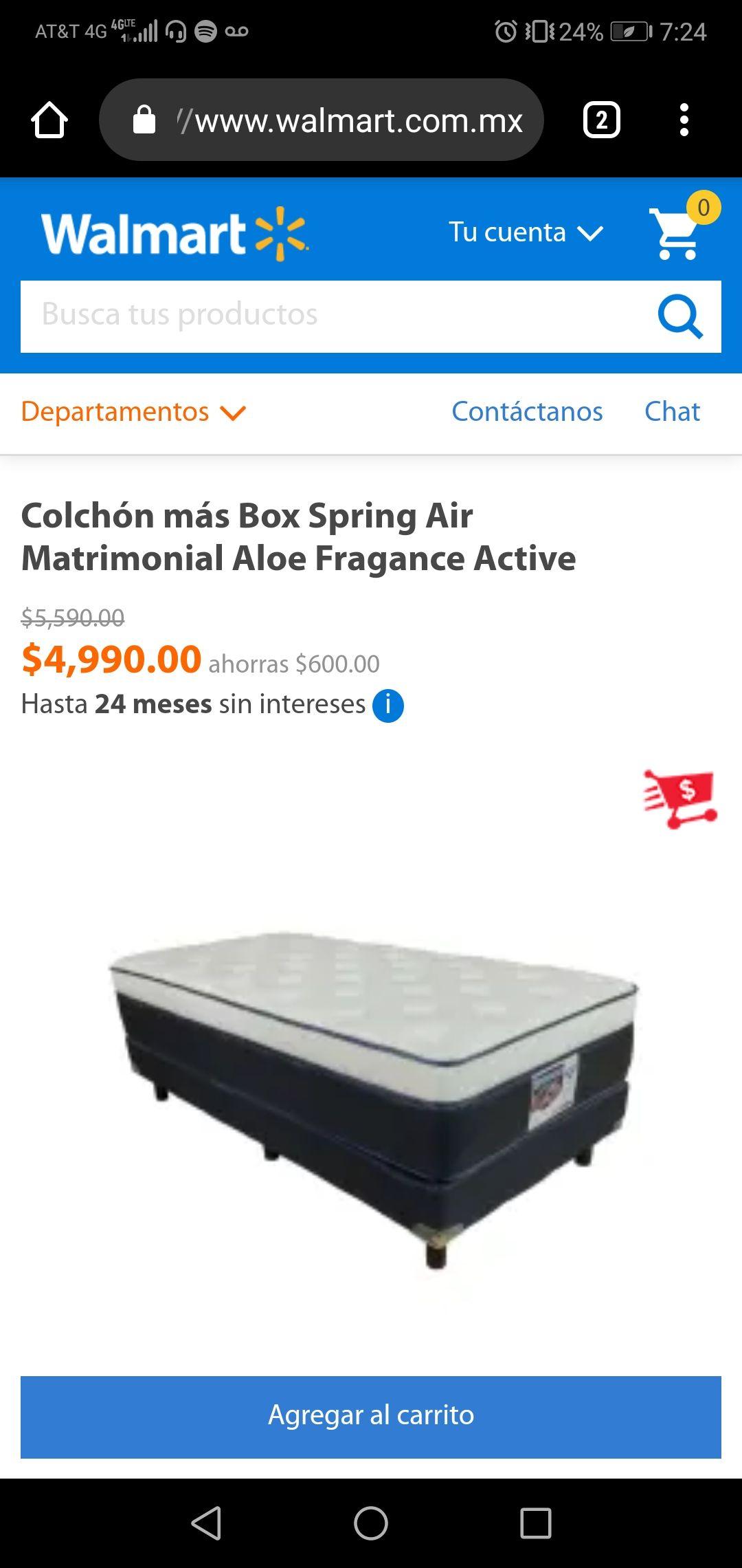 Walmart: Colchon más box